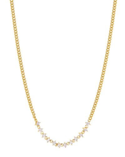 LUV AJ - The Ballier Curb Chain Necklace in Gold