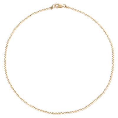 "Alexa Leigh - 2mm Yellow Gold Ball 15"" Necklace"
