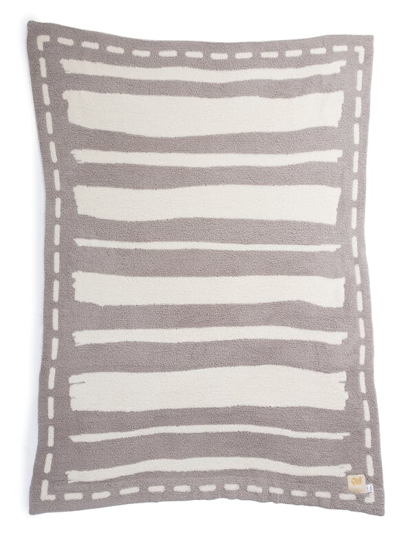 Barefoot Dreams - Stripe Adult Blanket Cream/Linen/Trust the Journey