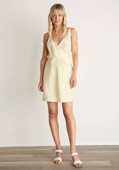 BELLA DAHL - V-Back Wrap Dress in Sunglow
