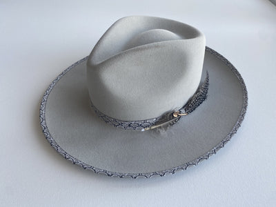 Blond Genius x Stetson - Rattler B Hat in Light Grey