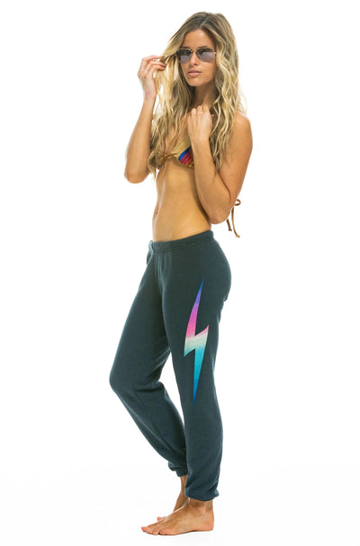 Aviator Nation - Bolt Women's Sweatpant in Rainbow Pink