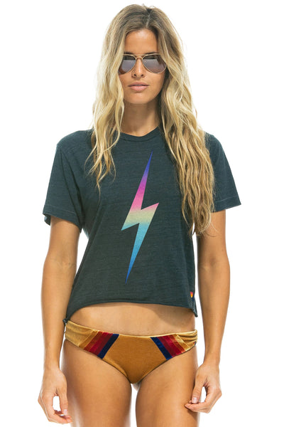 Aviator Nation - Bolt Boyfriend Tee in Rainbow Pink
