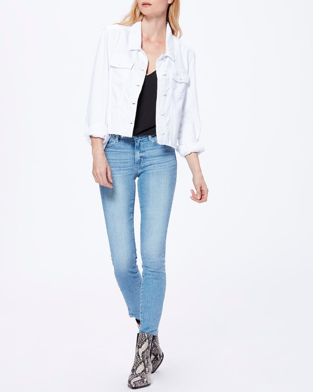 Paige - Relaxed Vivienne Jacket w/ Raw Hem in Crisp White