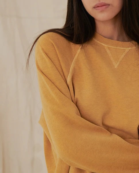 The Great - The Slouch Sweatshirt in Heather Buttercup
