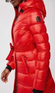 Mackage - Calina Maxi Lightweight Down Coat in Red