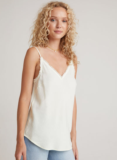 Bella Dahl - Frayed Edge Cami in Lemon Spritzer
