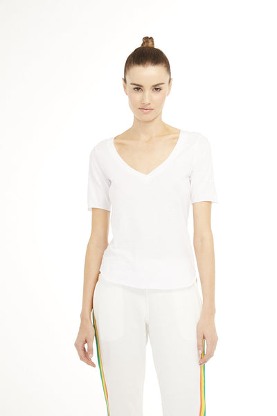 SUNDAYS - Camino Top in White
