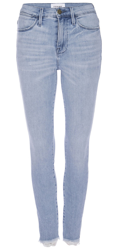 Frame Denim - Le High Skinny Raw Edge in Carnation