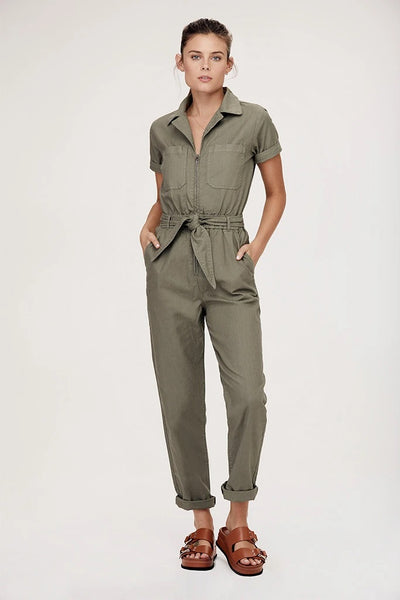 David Lerner - Carson Jumpsuit in Olive