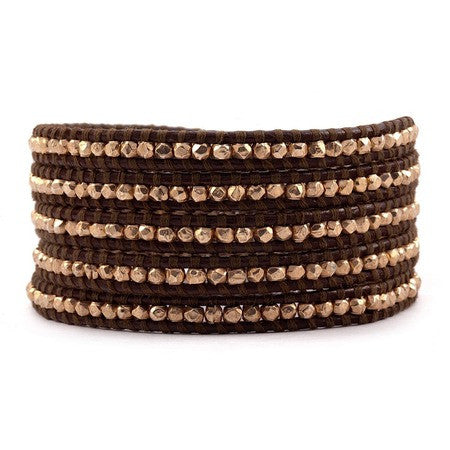"Chan Luu 32"" 5 Wrp Bracelet Brown at Blond Genius - 1"