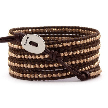 "Chan Luu 32"" 5 Wrp Bracelet Brown at Blond Genius - 2"