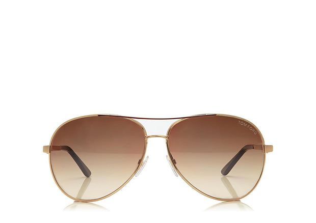 Tom Ford - Charles Shiny Rose Gold/Brown Polarized