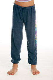 CHASER KIDS - Girls Cozy Knit Lounge Pant in Avalon