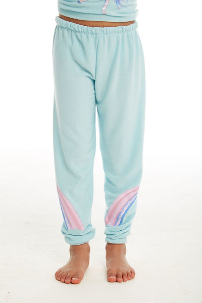 "CHASER KIDS - Girls Cozy Knit Lounge Pant ""Iridescent Unicorn"""