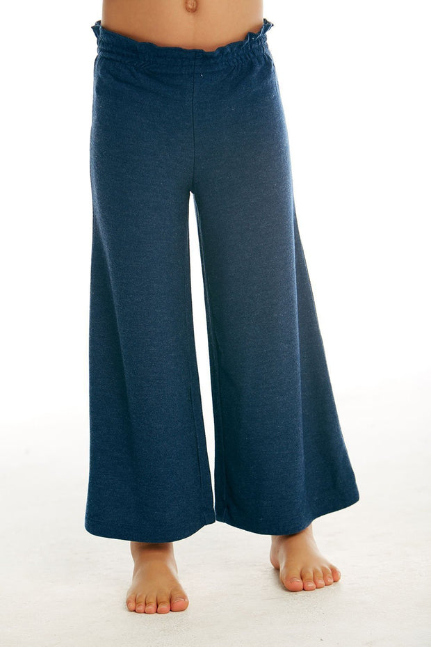 CHASER KIDS - Girls Cozy Knit Paperbag Waist Wide Leg Pant in Avalon