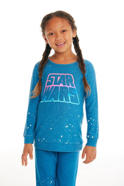 CHASER KIDS - Girls Cozy Knit Raglan Pullover in Shore