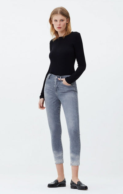 Citizens Of Humanity - Rocket Crop High Rise Skinny in Salt Stone