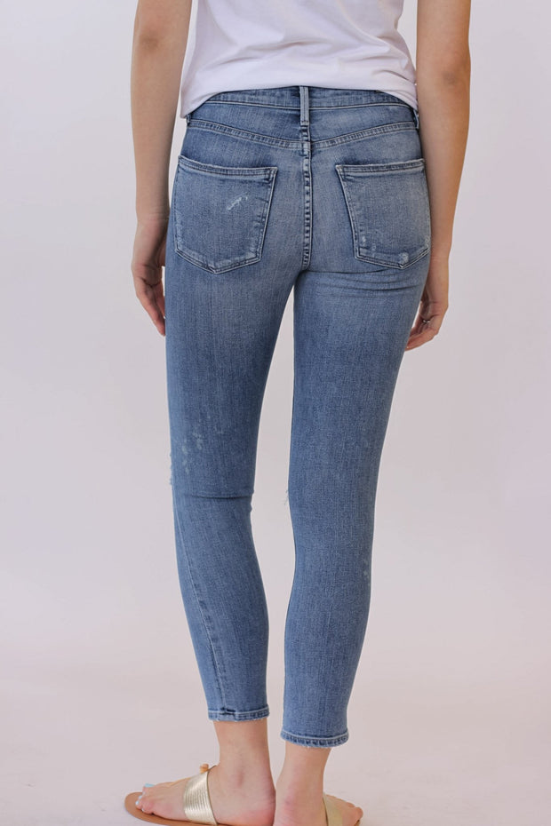 Citizens of Humanity Rocket High Rise Skinny Distressed Fizzle Crop at Blond Genius - 3