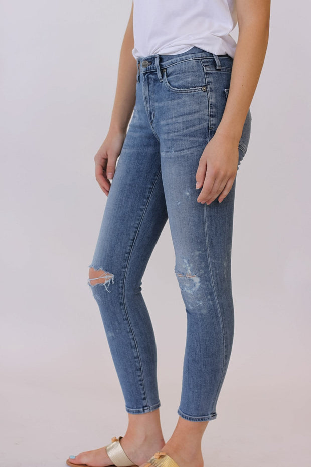 Citizens of Humanity Rocket High Rise Skinny Distressed Fizzle Crop at Blond Genius - 2