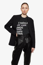 Anine Bing - Lili Tee City Love in Washed Black