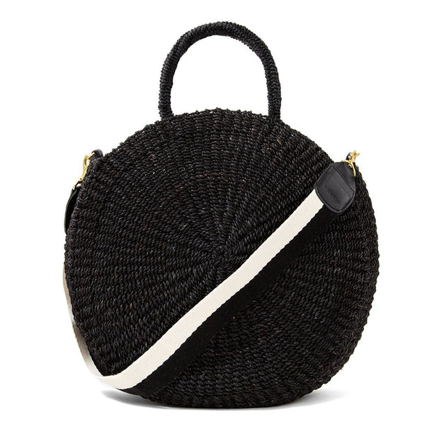 Clare V. - Shoulder Strap in Black & White Cotton Webbing