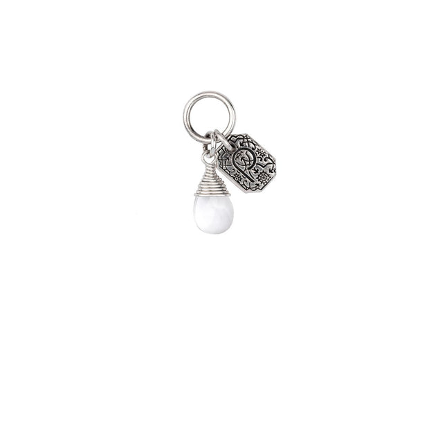 Pyrrha - Serenity Clear Quartz Signature Attraction Charm in Silver