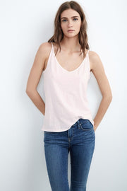 Velvet Emmalee Tank in Rosewood at Blond Genius - 1