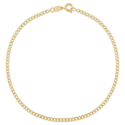 "Alexa Leigh - 16"" Mini Curb Chain Necklace in Yellow Gold"