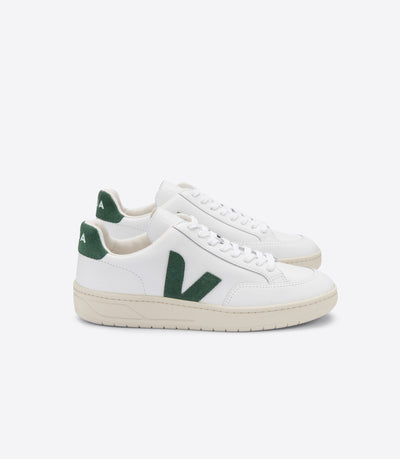Veja - V-12 Leather Sneakers in Extra-White Cyprus