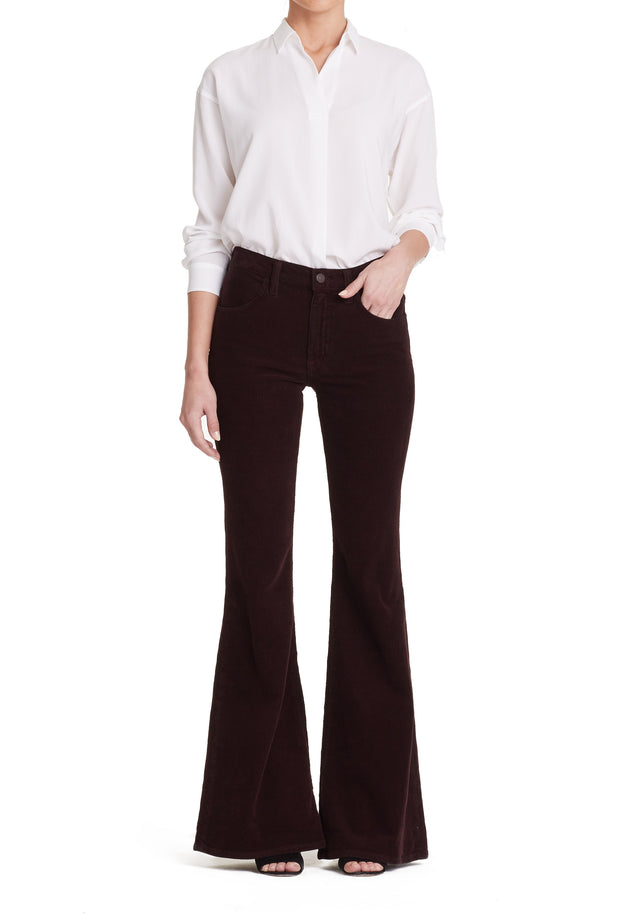 Citizens of Humanity - Chloe Mid Rise Super Flare Jeans in Raisin Wash