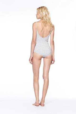 David Lerner - Heavy Rib Knit Tank Bodysuit