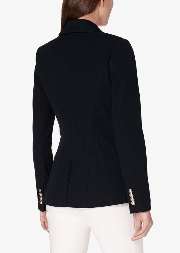 Derek Lam 10 Crosby - Rodeo Double Breasted Blazer w/ Sailor Buttons in Black