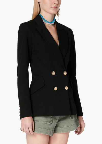 Derek Lam 10 Crosby - Rodeo Double Breasted Blazer w/ Sailor Buttons in Midnight