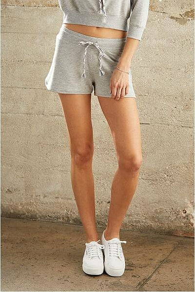David Lerner - Dolphin Hem Short Heather Grey