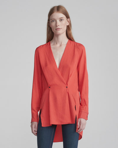 Rag & Bone Collection - Debbie Top Red