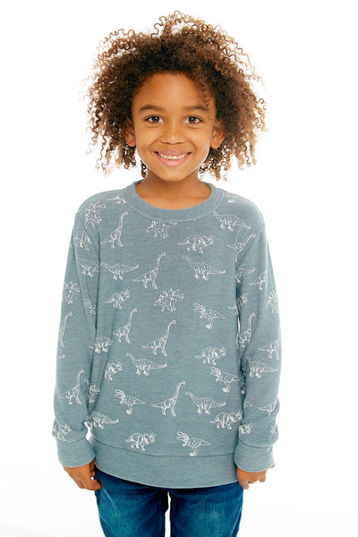 "CHASER KIDS - Boys Cozy Knit Pullover Sweater ""Dino Dance"""