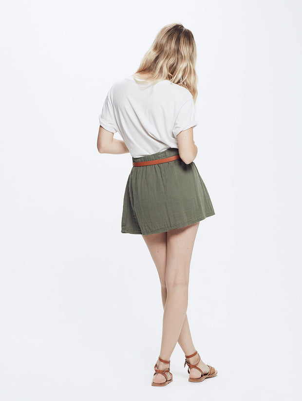 Mother - Pull On Skirt Military Green