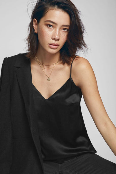 Anine Bing - Gwyneth Silk Camisole in Black