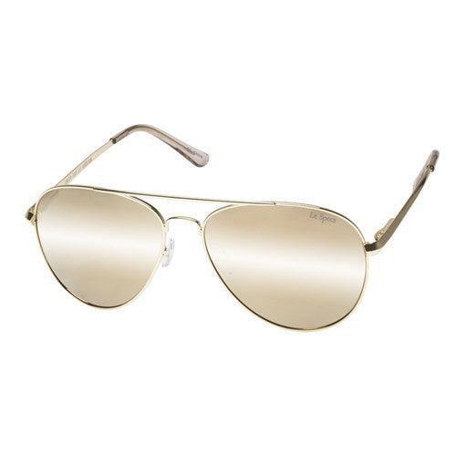 Le Specs Drop Top Gold Revo Mirror