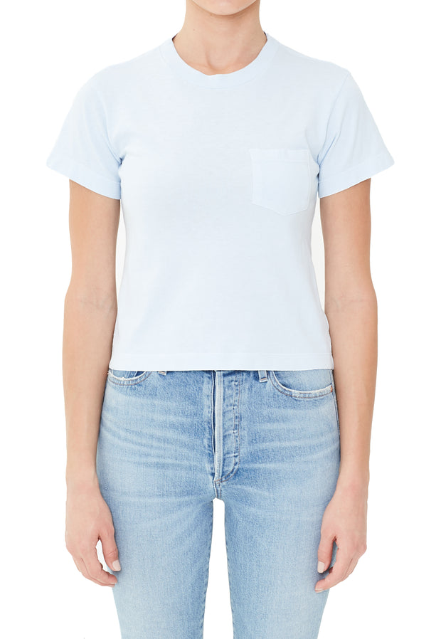 Citizens of Humanity- Grace Pocket Tee in Cloud