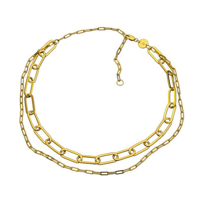Jennifer Zeuner - Ema Chain Necklace Gold Vermeil