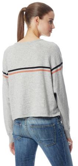 360 Sweater - Emm Lt Hgrey/Multi Stripe