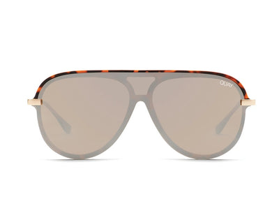 QUAY - Empire Sunglasses in Tort/Brown Flash