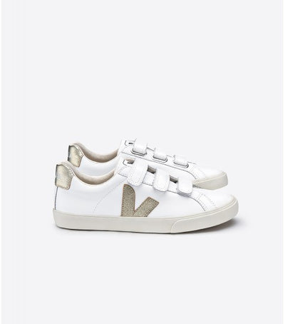 Veja Sneakers - Lock Logo Extra White Gold V Sneakers