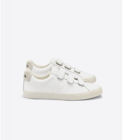 Veja Sneakers - 3 Lock Leather Sneakers in Extra White