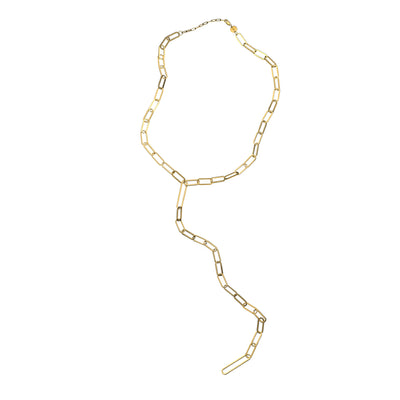 Jennifer Zeuner - Maurice Lariat Necklace in Yellow Vermeil
