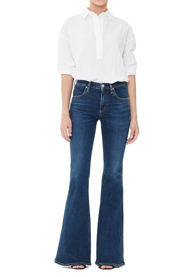 Citizens of Humanity- Chloe Mid Rise Super Flare Jeans in Dedication Wash