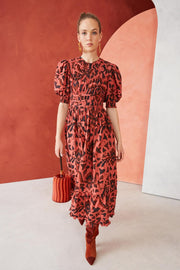 ULLA JOHNSON- Indah Dress Cinnabar