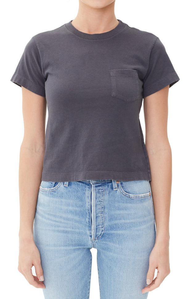 Citizens of Humanity- Grace Pocket Tee in Greystone
